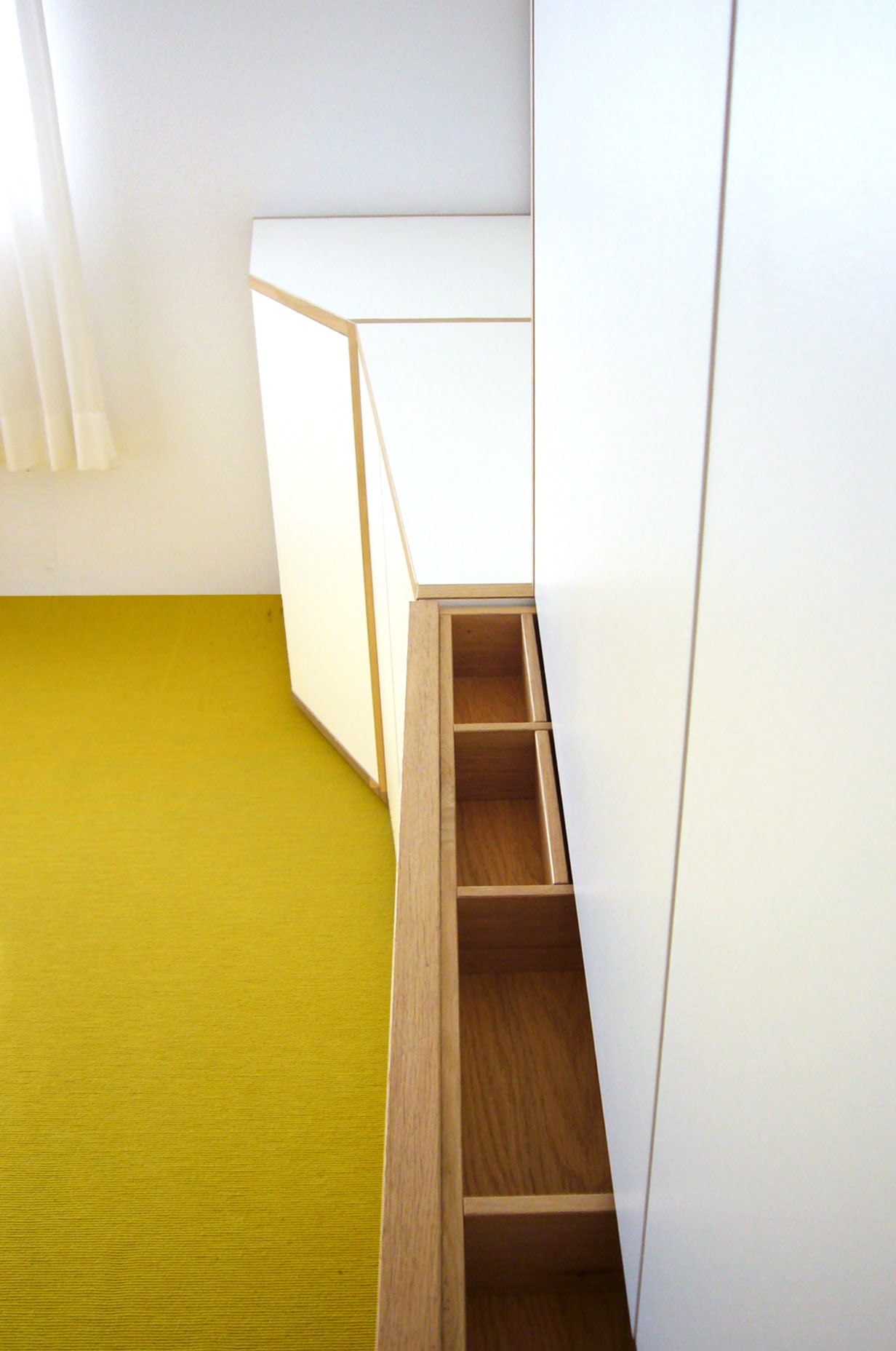ontwerp bijzondere inbouwkast werkkamer