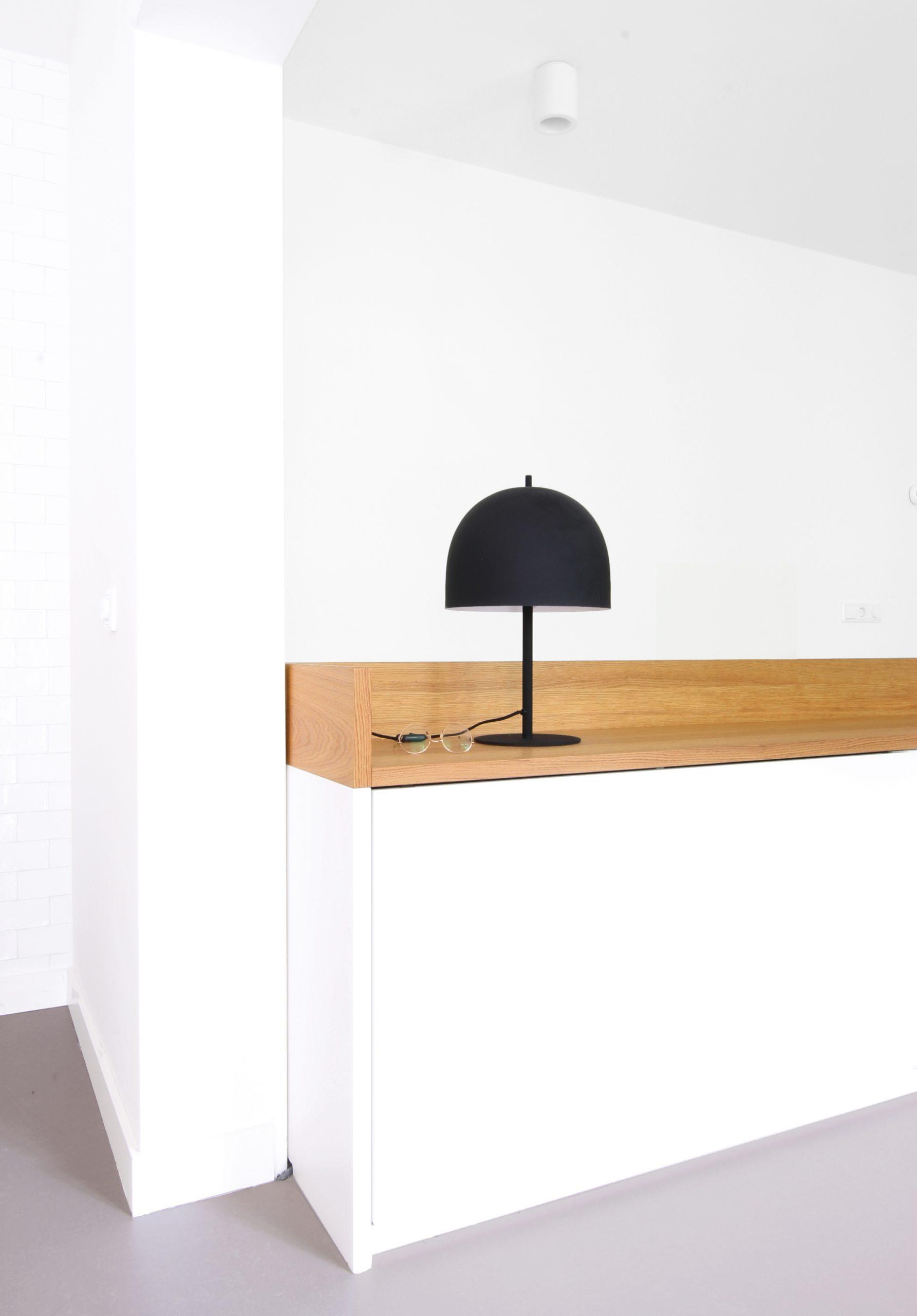 Inbouwkast dressoir wit hout